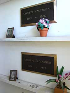 Side Cap Crypts with Floral Tributes